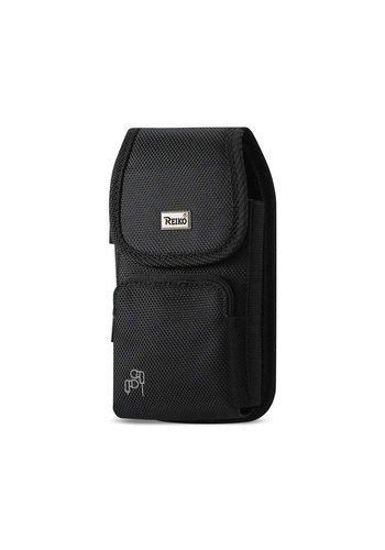 REIKO Vertical Rugged Pouch Velcro Closure with Zipper Pocket (PH15B-583007) For Universal Devices (inside: 5.84 x 3.04 x 0.67 in)