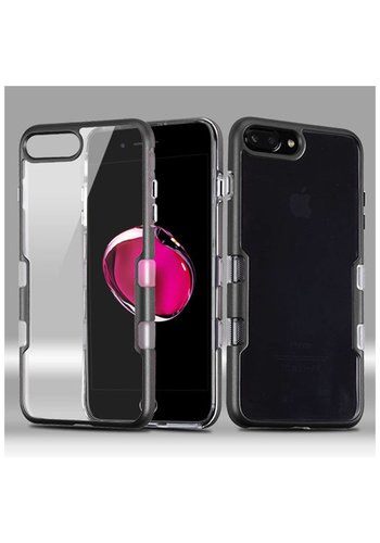 MYBAT Transparent Clear TUFF Metallic Edge Case For iPhone 7/8 Plus