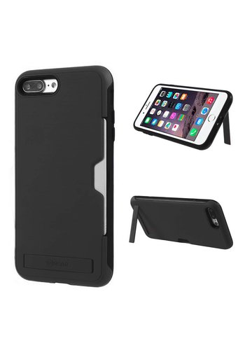 Roar PC TPU Brushed Case with Card Slot and Kickstand for iPhone 7/8 Plus