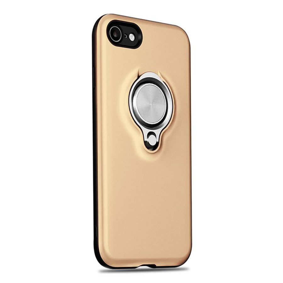 Fashion PC TPU Magnetic Shield Case with Ring Holder for iPhone 7/8