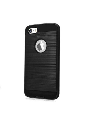 PC TPU Metallic Brushed Design Case for iPhone 5/5C/5S/SE