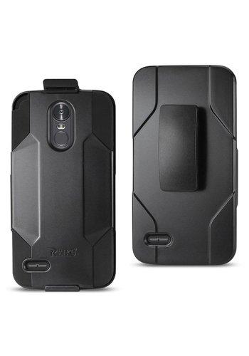 Reiko Hybrid Heavy Duty Holster Clip Case for LG Stylo 3 (LS777) / Stylo 3 Plus