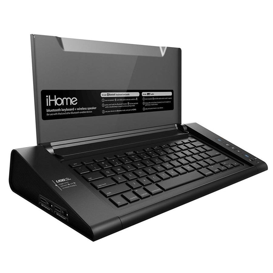 iHome Wireless Bluetooth Keyboard with Speakers