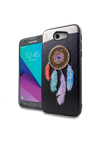 PC TPU Embroidery Design Case for Galaxy J3 Emerge / Prime (2017) Dream Catcher