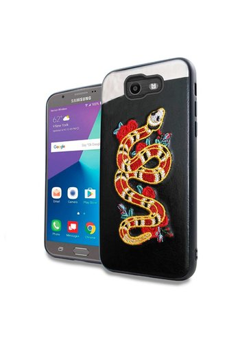 PC TPU Embroidery Design Case for Galaxy J7 Perx / Prime 2017 Snake
