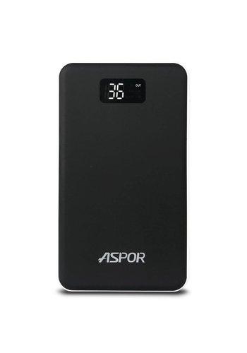 Aspor Air Series Ultra Thin 20,000 mAh 3.0A Dual USB with Flashlight- A398