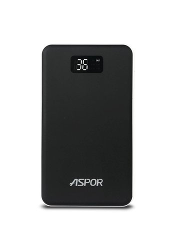 Aspor Air Series Ultra Thin Power Bank 20,000 mAh 3.0A Dual USB with Flashlight- A398