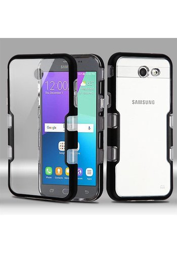 MYBAT Transparent Clear TUFF Metallic Edge Case For Galaxy J3 Emerge / Prime (2017)