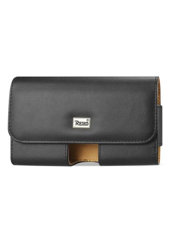 REIKO Horizontal Leather Pouch (HP153B-583207) For Universal Devices (inside: 5.78 x 3.15 x 0.71 in)