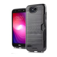 Armor Brushed Case With Card Slot For LG X Power 2 / X Charge