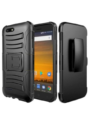 Armor Kickstand Holster Clip Case for ZTE Blade Force N9517