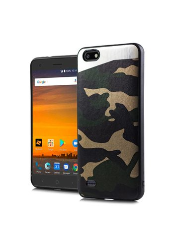 PC+TPU Metallic Magnetic Camo Case for ZTE Blade Force N9517