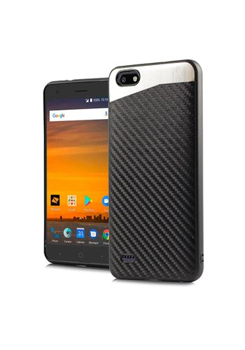 PC + TPU Metallic Magnetic Carbon Fiber Case for ZTE Blade Force N9517