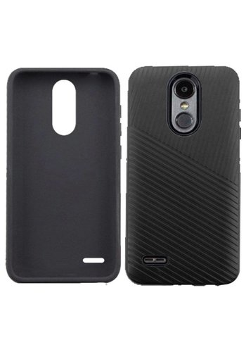 Textured Embossed Lines Hard Plastic PC TPU Case For LG Aristo 2 X210 / Tribute Dynasty