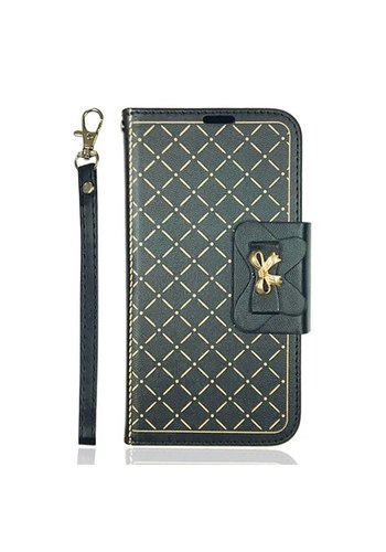 Guardian Leather Flip Wallet Credit Card Case For LG X Power 2 / Fiesta / LV7 - Ribbon Wallet