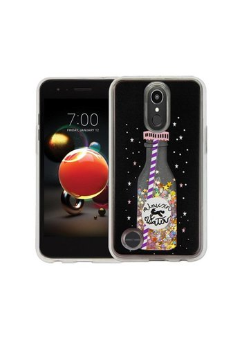 Guardian PC + TPU Liquid Quicksand with Unicorn Water Bottle Case for LG Aristo 2 X210 / Tribute Dynasty - Art Milkyway
