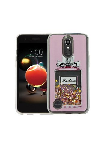 Guardian PC + TPU Liquid Quicksand with Perfume Bottle Case for LG Aristo 2 X210 / Tribute Dynasty - Art Milkyway
