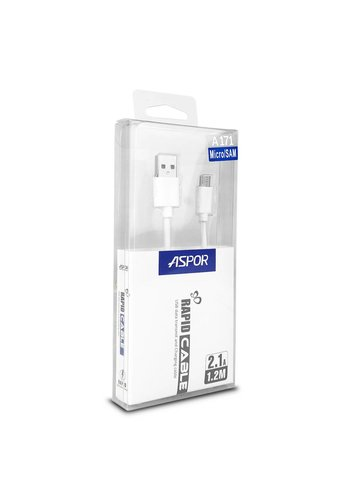 Aspor Micro USB Rapid 2.1A Data Transmit & Charging Cable A171