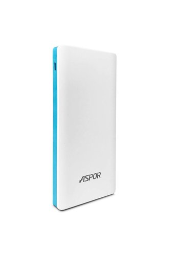 Aspor Power Bank with Dual USB and LED Light (A341) 10,000mAh