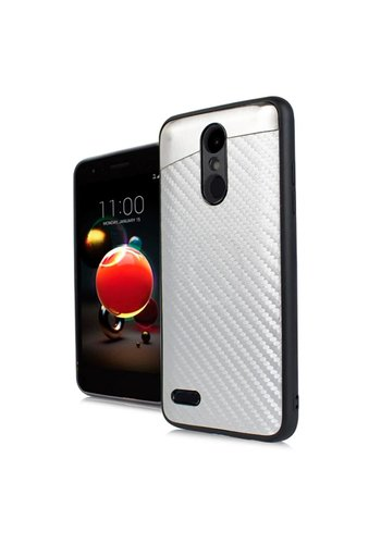 PC + TPU Metallic Magnetic Carbon Fiber Case for LG Aristo 2 X210 / Tribute Dynasty