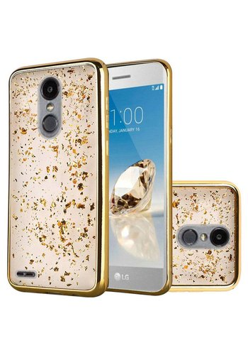 Frozen Glitter Case with Electroplated Chrome Bumper Edges for LG Aristo 2 X210 / Tribute Dynasty