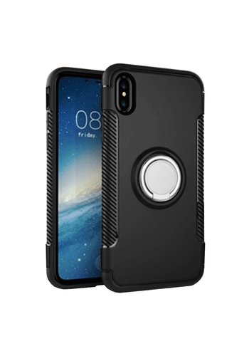 Guardian PC TPU Shield Case with Magnetic Ring Holder for iPhone X- Shield Magnet