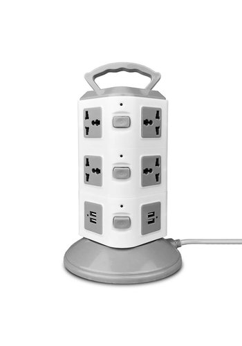 Universal Power Station Tower with 10 Outlets and Four USB Inputs