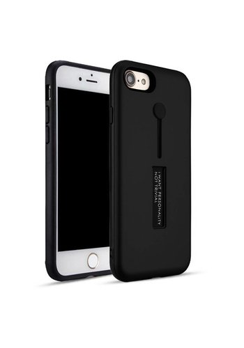 Guardian PC Solid Color Case with Finger Holder and Kickstand for iPhone 6/6S - Shield Band
