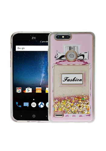 Guardian PC + TPU Liquid Quicksand with Perfume Bottle Case for ZTE Sequoia / Blade Z Max / ZTE ZMAX PRO 2 - Art Milkyway