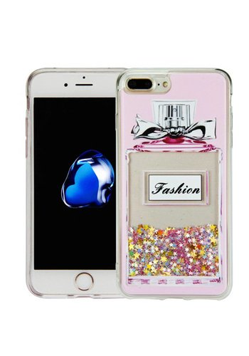 Guardian PC + TPU Liquid Quicksand with Perfume Bottle Case for iPhone 7/8 Plus - Art Milkyway