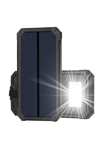 X-Power Dual USB Solar Power Bank and LED Flashlight - 15,000mAh