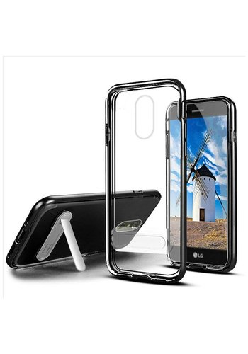 TPU Vitreous Crystal Clear Case with Kickstand for LG Stylo 4