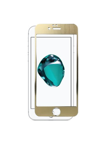 4D Full Cover Metallic Design Tempered Glass for iPhone 6/6S Plus