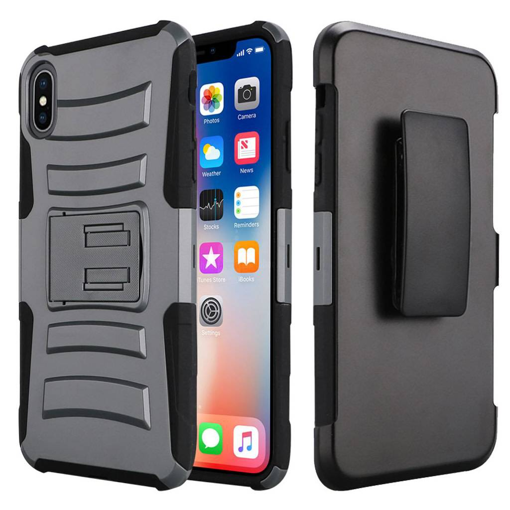 Armor Kickstand Holster Clip Case For Iphone Xs Max 5 5s 5se Series Blackblack