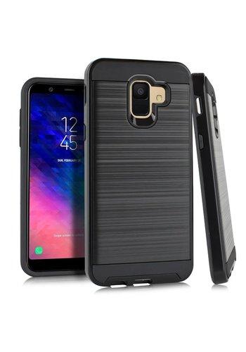 PC TPU Metallic Brushed Design Case for Galaxy A6 (2018)