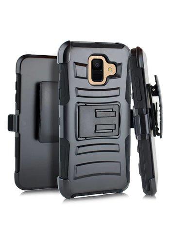 Armor Kickstand Holster Clip Case for Galaxy A6 (2018)