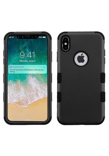 MYBAT TUFF Titanium Hybrid Protector Case [Military-Grade Certified] with Cutout for iPhone XS Max