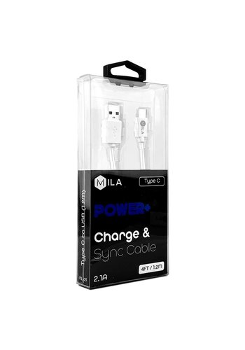 MILA | Type C POWER+ 4ft / 1.2M Charge & Sync Cable