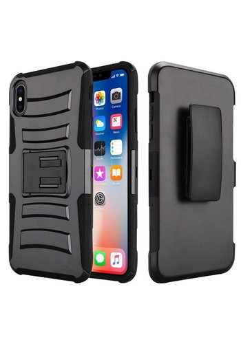 Armor Kickstand Holster Clip Case for iPhone XR