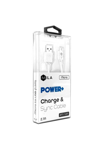 MILA | Micro V9 POWER+ 4ft / 1.2M Charge & Sync Cable