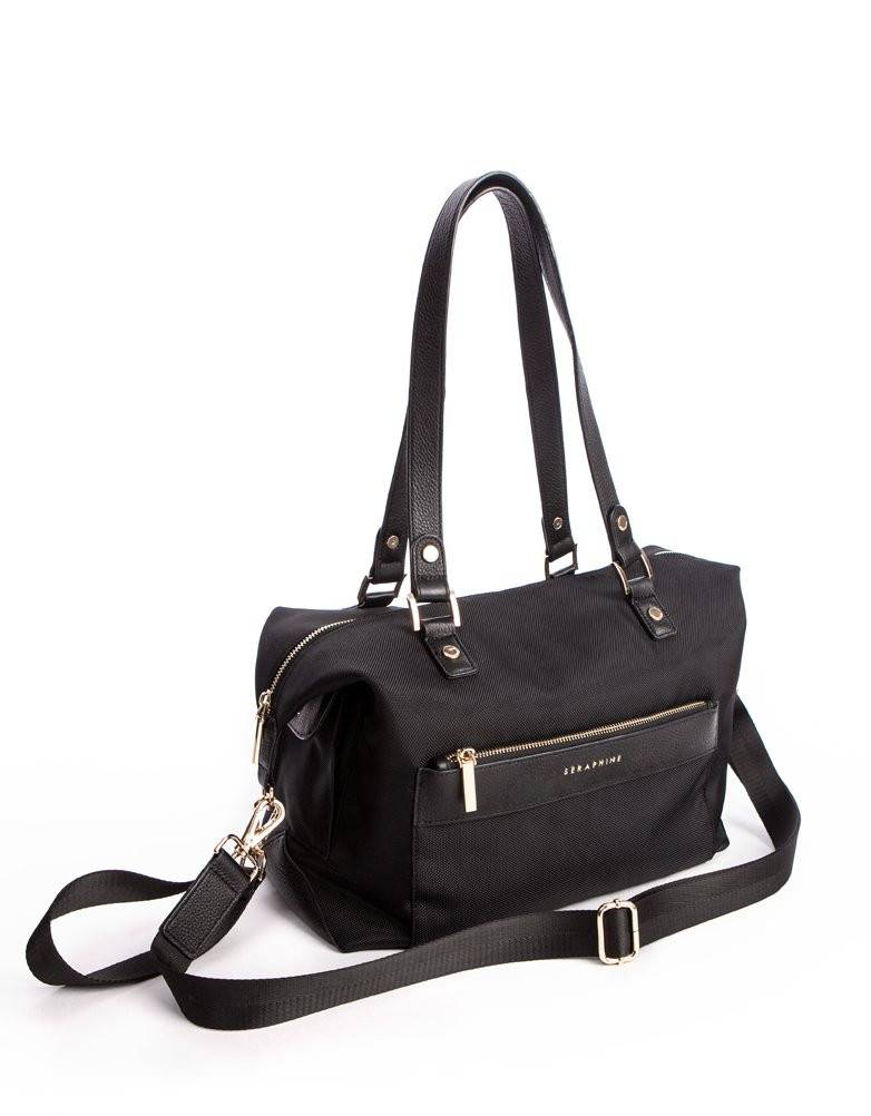 Seraphine Oxford Canvas and Leather Changing Bag