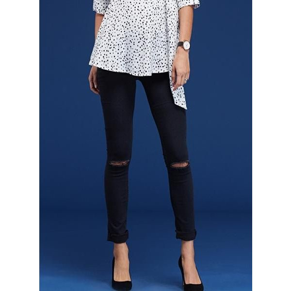 Zadie Ripped Stretch Maternity Skinny Jean