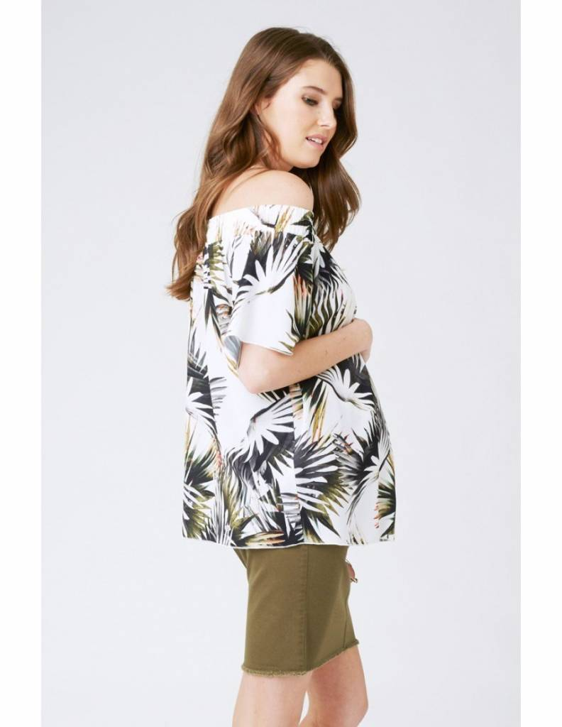 Ripe Zanzibar Cold Shoulder Top