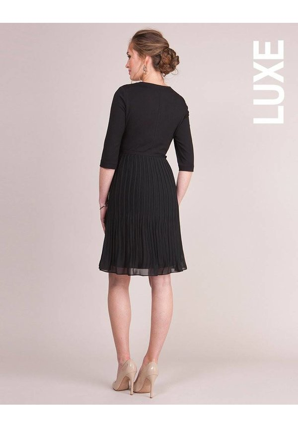 Tayla Ponte Pleated Chiffon Dress