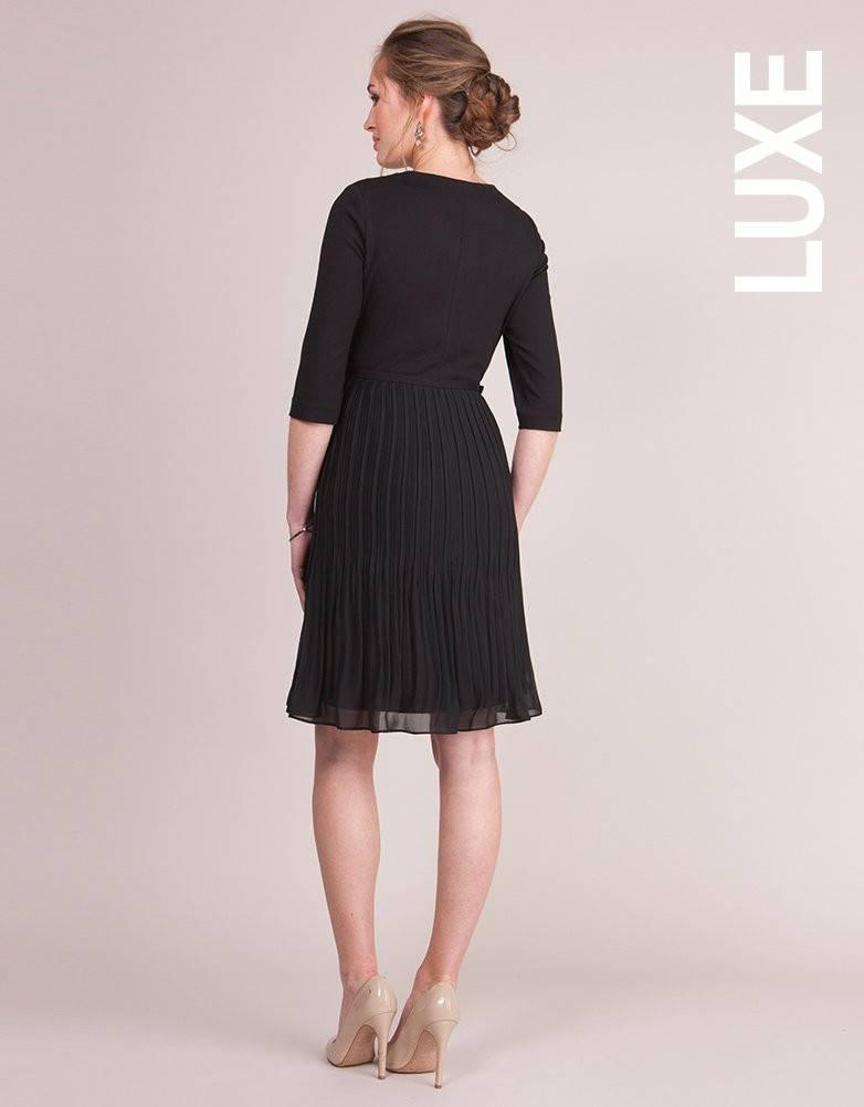 Seraphine Tayla Ponte Pleated Chiffon Dress
