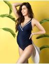 Maldives Maternity Swimsuit Nautical