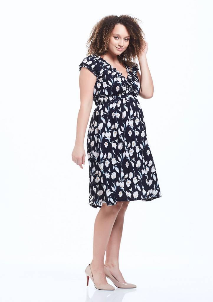Soon Jess Gathered Midi Dress