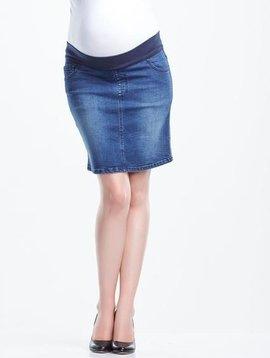 Soon Band Denim Skirt