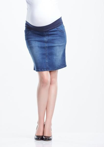 Soon Band Denim Skirt