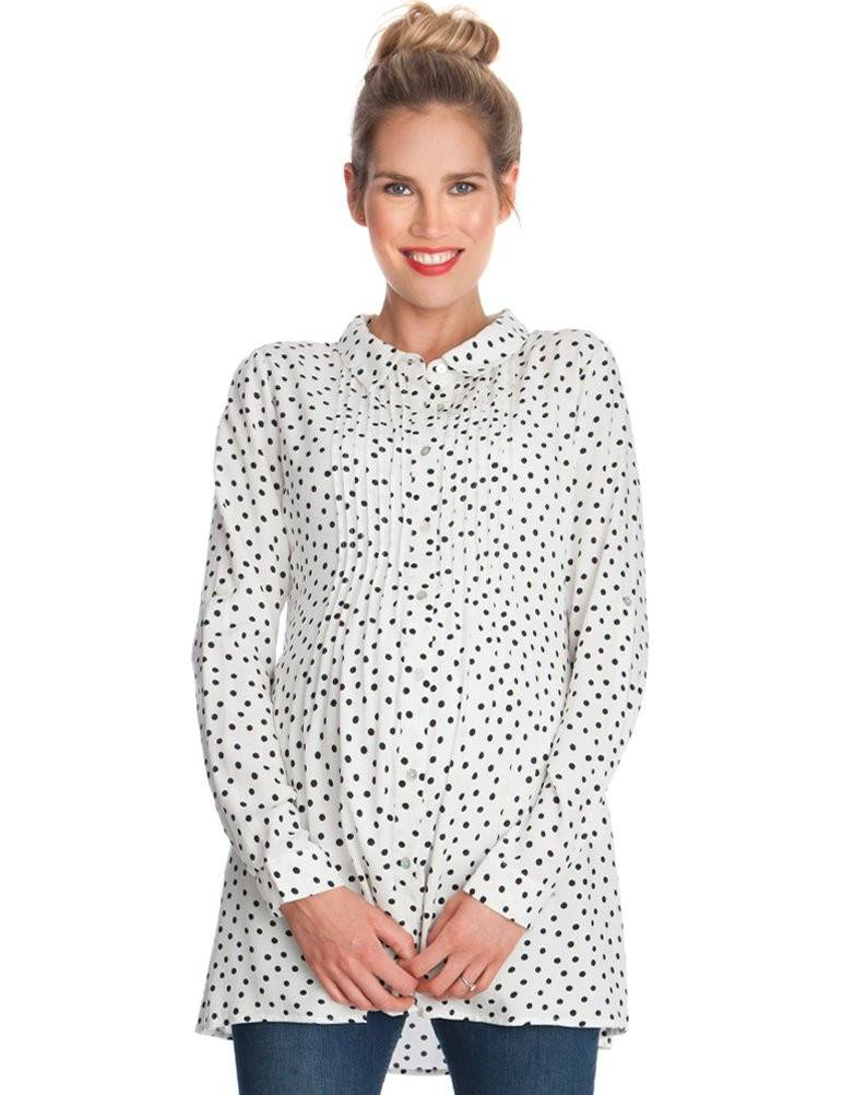 Seraphine Happy Dot Maternity Blouse